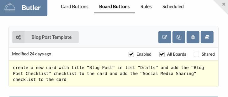 Board Button Example