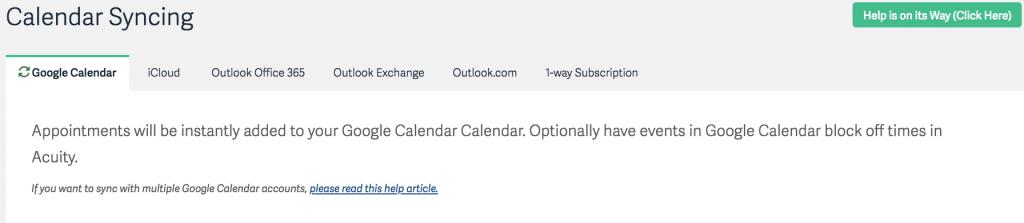 Sync your calendars