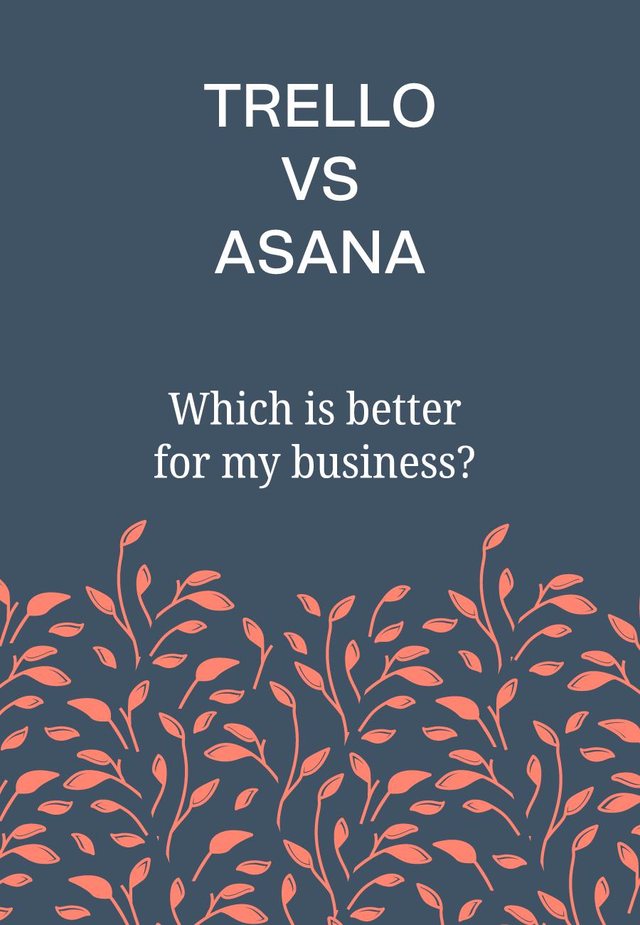 The difference between Trello & Asana #bloomhustlegrow #businesstools #trello #asana